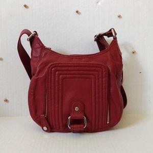 Dana Buchman Faux Leather Multi Pocket Zip Bag